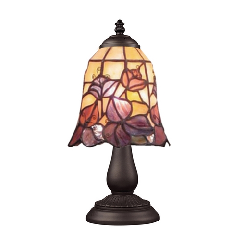 Elk Lighting Table Lamp with Tiffany Glass in Bronze Finish 080-TB-17