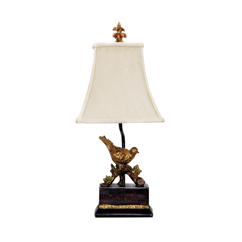 Dimond Lighting Dimond Lighting Gold Leaf, Black Table Lamp with Square Shade 91-171