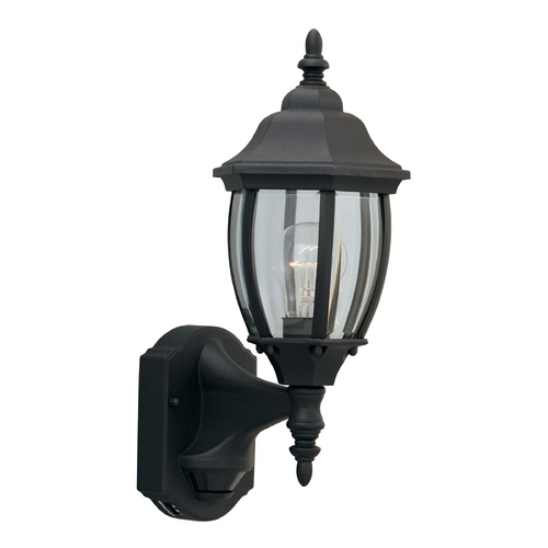 Designers Fountain Lighting Outdoor Wall Light with Clear Glass in Black Finish 2420MD-BK