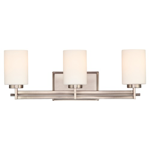 Quoizel Lighting Three-Light Antique Nickel Vanity Light TY8603AN