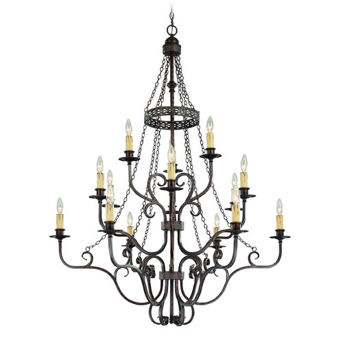 Jeremiah Lighting Jeremiah Brookshire Manor Burnished Armor Chandelier 23615-BA