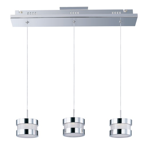 ET2 Lighting Disco Polished Chrome LED Multi-Light Pendant with Drum Shade E22683-01PC