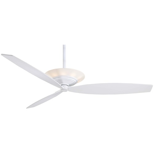 Minka Aire Fans Minka Aire Fans Moda White Ceiling Fan with Light F737-WH