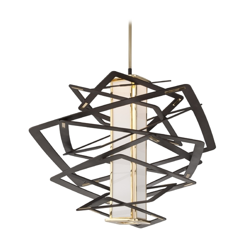 Corbett Lighting Corbett Lighting Tantrum Bronze LED Pendant Light with Rectangle Shade 186-43