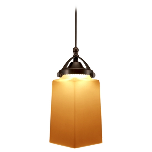WAC Lighting Wac Lighting Early Electric Collection Dark Bronze LED Mini-Pendant with Rectangle MP-LED498-AM/DB