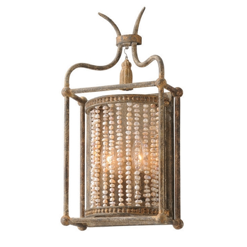Troy Lighting Troy Lighting Madame Bardot Parisian Bronze with Gold Leaf and Wood Accents Sconce B4042