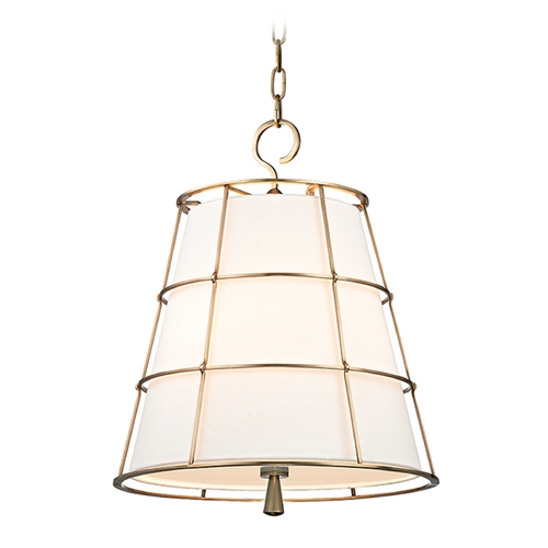 Hudson Valley Lighting Hudson Valley Lighting Savona Aged Brass Pendant Light with Empire Shade 9818-AGB