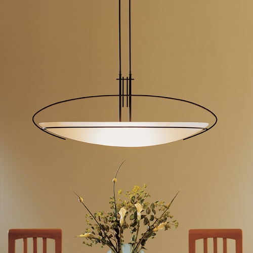 Hubbardton Forge Lighting Hubbardton Forge Lighting Mackintosh Dark Smoke Pendant Light 134328-07-G92