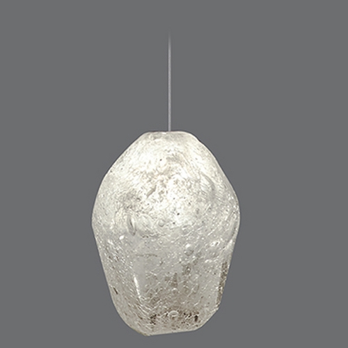 Fine Art Lamps Fine Art Lamps Natural Inspirations Gold-Toned Silver Leaf Mini-Pendant Light 852240-23ST