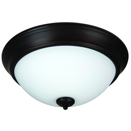 Jeremiah Lighting Jeremiah Pro Builder Flush Aged Bronze Brushed Flushmount Light XP13ABZ-2W