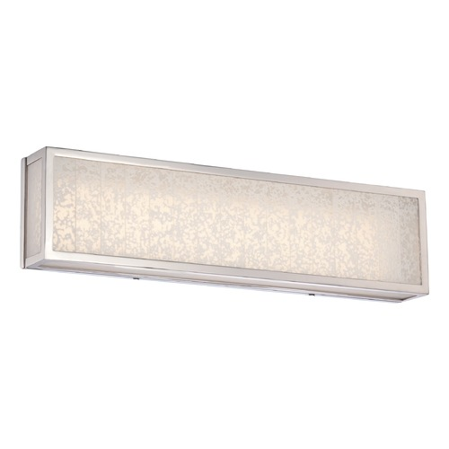 Metropolitan Lighting Metropolitan Lake Frost Polished Nickel LED Bathroom Light N1743-613-L