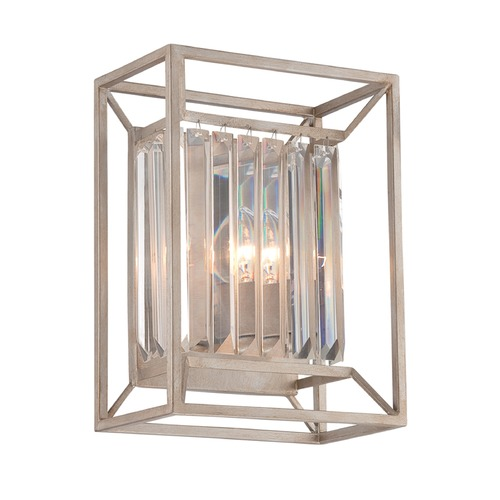 Designers Fountain Lighting Designers Fountain Linares Aged Platinum Sconce 87402-AP