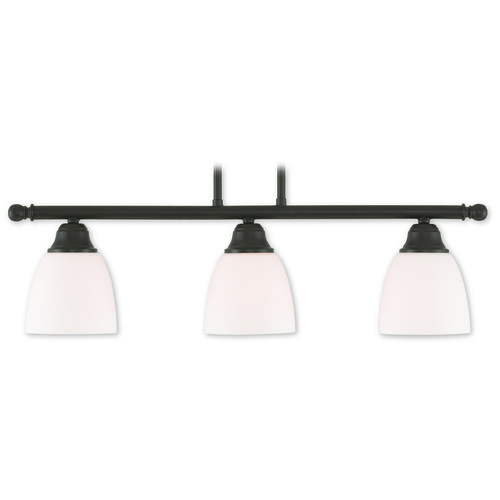 Livex Lighting Livex Lighting Somerville Bronze Island Light with Bowl / Dome Shade 53854-07