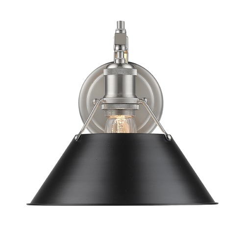 Golden Lighting Golden Lighting Orwell Pw Pewter Sconce 3306-1W PW-BLK
