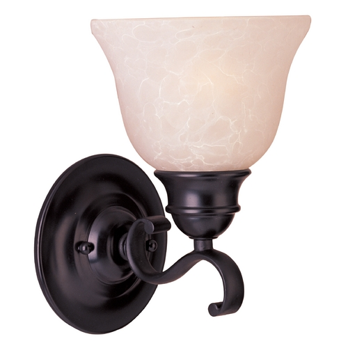 Maxim Lighting Sconce Wall Light with Beige / Cream Glass in Oil Rubbed Bronze Finish 85807WSOI