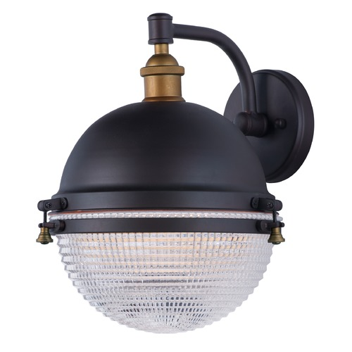Maxim Lighting Maxim Lighting Portside Oil Rubbed Bronze / Antique Brass Outdoor Wall Light 10186OIAB