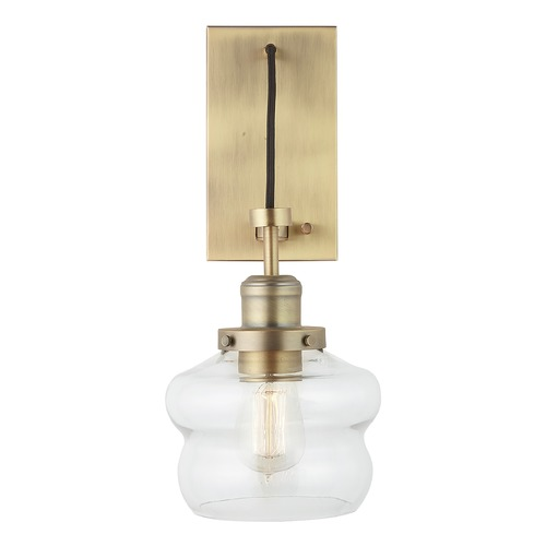 HomePlace by Capital Lighting Homeplace By Capital Lighting Aged Brass Sconce 634813AD-481