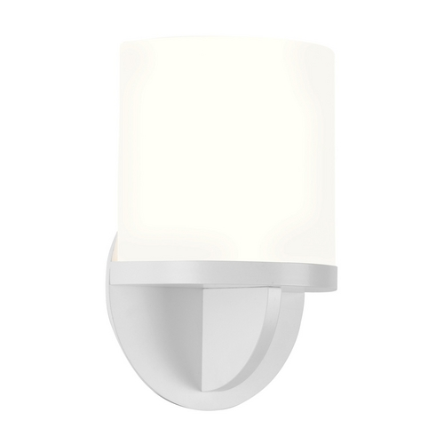 Sonneman Lighting Modern Sconce Wall Light with White Glass in Satin White Finish 1720.03F