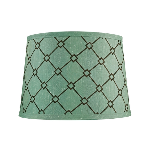 Dolan Designs Lighting Green / Brown Patterned Drum Lamp Shade with Spider Assembly 160100