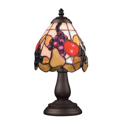 Elk Lighting Table Lamp with Tiffany Glass in Bronze Finish 080-TB-19