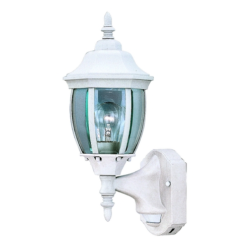 Designers Fountain Lighting Outdoor Wall Light with Clear Glass in White Finish 2420MD-WH