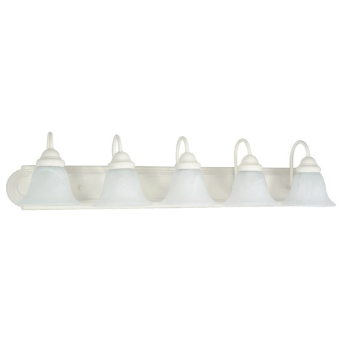 Nuvo Lighting Bathroom Light with Alabaster Glass in Textured White Finish 60/335