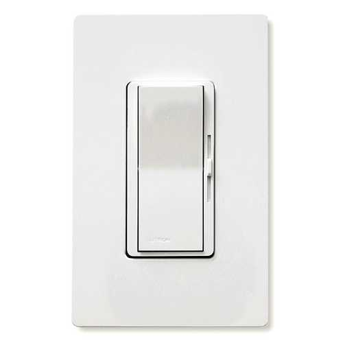 Lutron Dimmer Controls Magnetic Low-Voltage Dimmer Switch DVLV-600PH-WH