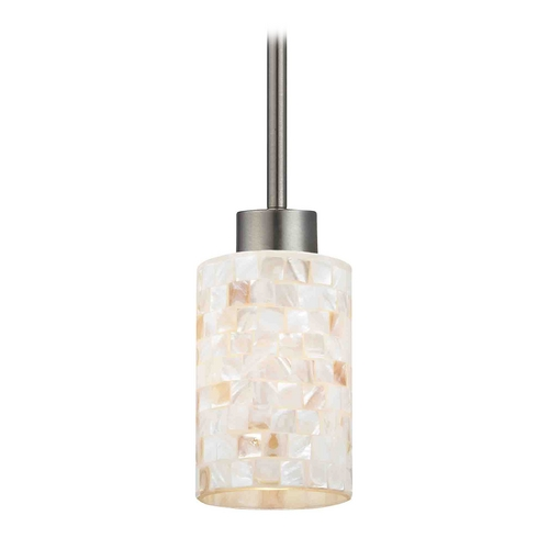 Design Classics Lighting Mini-Pendant Light with Beige / Cream Glass 1123-1-09 GL1026C
