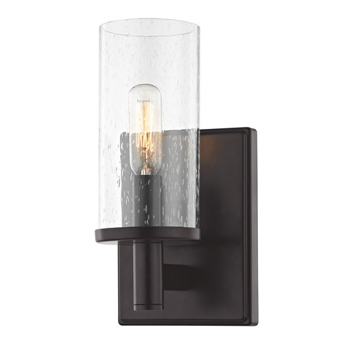 Design Classics Lighting Seeded Glass Sconce Bronze 2951-220