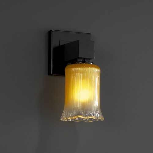 Justice Design Group Justice Design Group Veneto Luce Collection Sconce GLA-8705-16-GLDC-MBLK