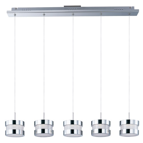 ET2 Lighting Disco Polished Chrome LED Multi-Light Pendant with Drum Shade E22685-01PC