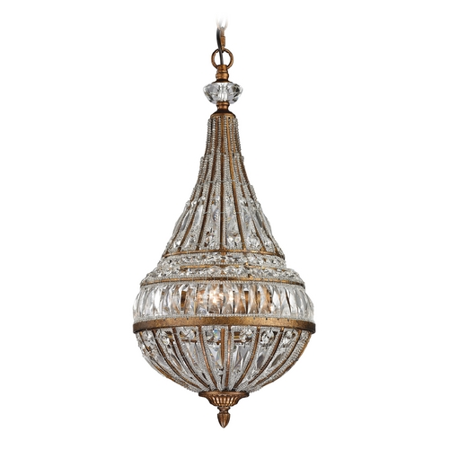 Elk Lighting Crystal Pendant Light in Mocha Finish 46046/3