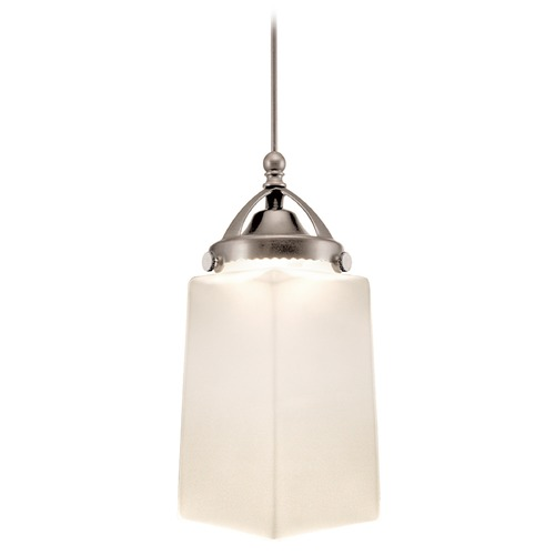 WAC Lighting Wac Lighting Early Electric Collection Brushed Nickel LED Mini-Pendant with Rectang MP-LED498-WT/BN