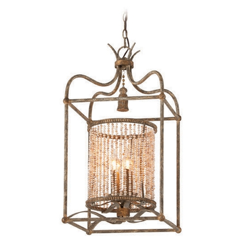 Troy Lighting Troy Lighting Madame Bardot Parisian Bronze with Gold Leaf and Wood Accents Pendant Light F4044