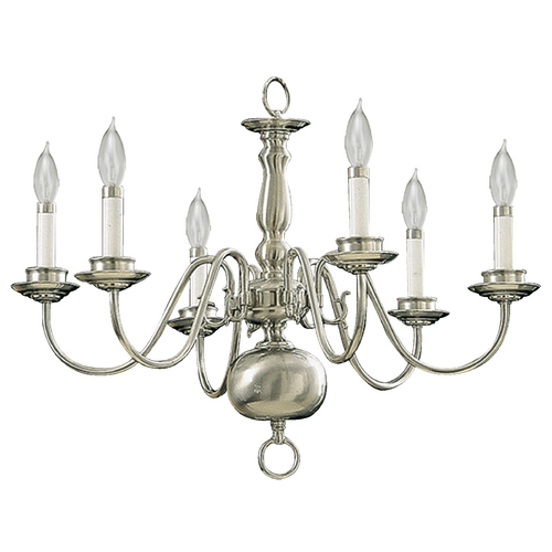Quorum Lighting Quorum Lighting Satin Nickel Chandelier 6171-6-65