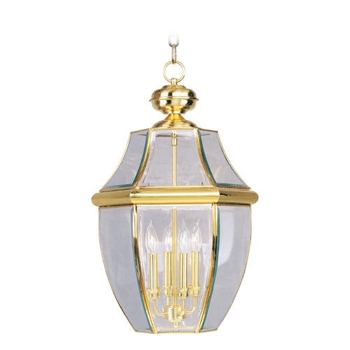 Livex Lighting Livex Lighting Monterey Polished Brass Outdoor Hanging Light 2357-02