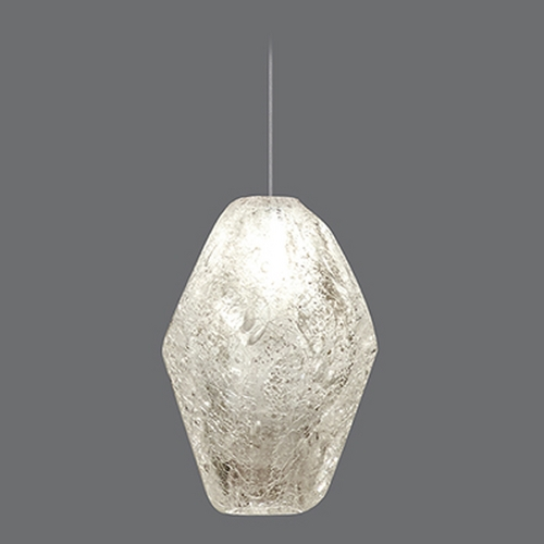 Fine Art Lamps Fine Art Lamps Natural Inspirations Gold-Toned Silver Leaf Mini-Pendant Light 852240-24ST