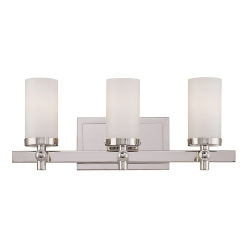 Savoy House Savoy House Polished Nickel Bathroom Light 8-1028-3-109