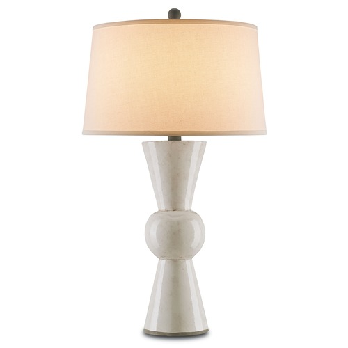 Currey and Company Lighting Currey and Company Lighting Upbeat Antique White Table Lamp with Drum Shade 6198