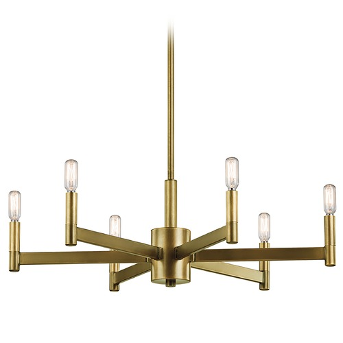 Kichler Lighting Kichler Erzo 6-Light Chandelier in Natural Brass 43859NBR