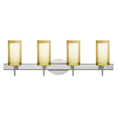 Besa Lighting Besa Lighting Pahu Satin Nickel Bathroom Light 4SW-S44007-SN