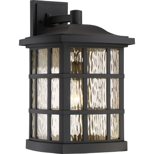 Quoizel Lighting Quoizel Lighting Stonington Matte Black Outdoor Wall Light SNN8411K