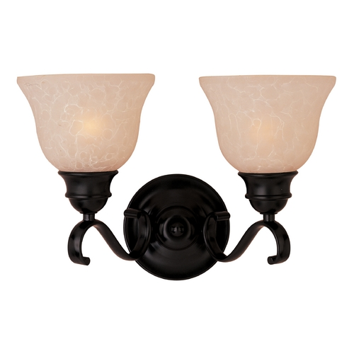 Maxim Lighting Bathroom Light with Beige / Cream Glass in Oil Rubbed Bronze Finish 85808WSOI