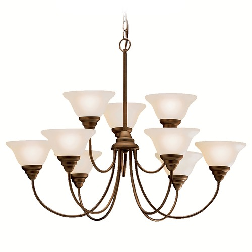 Kichler Lighting Kichler Chandelier with Beige / Cream Shades in Olde Bronze Finish 2077OZ