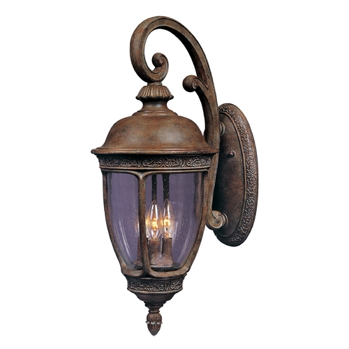 Maxim Lighting Outdoor Wall Light with Clear Glass in Sienna Finish 40465CDSE