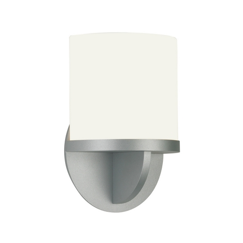 Sonneman Lighting Modern Sconce Wall Light with White Glass in Satin Silver Finish 1720.04