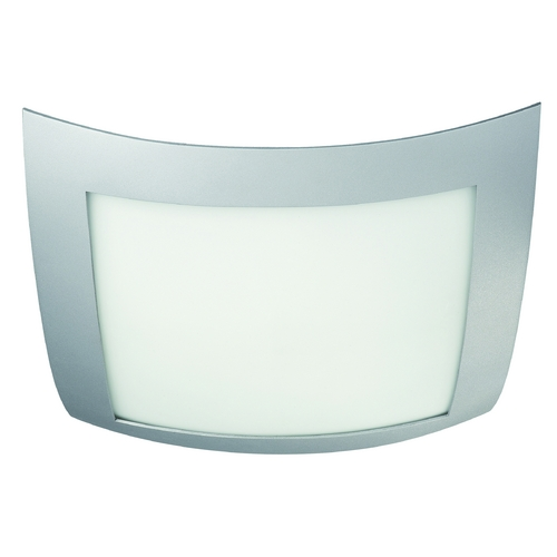 Philips Lighting Modern Flushmount Light with White Glass in Grey Finish 302008748