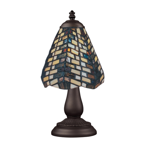 Elk Lighting Table Lamp with Tiffany Glass in Bronze Finish 080-TB-20