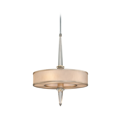 Corbett Lighting Art Deco Crystal Pendant Light Tranquility Silver Leaf Harlow by Corbett Lighting 166-46
