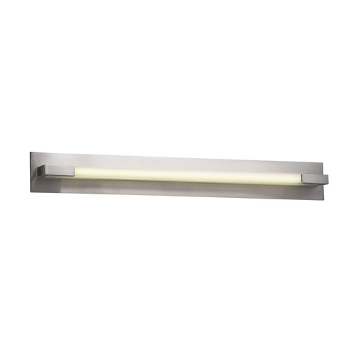 PLC Lighting Modern Bathroom Light with Clear Glass in Satin Nickel Finish 1046 SN